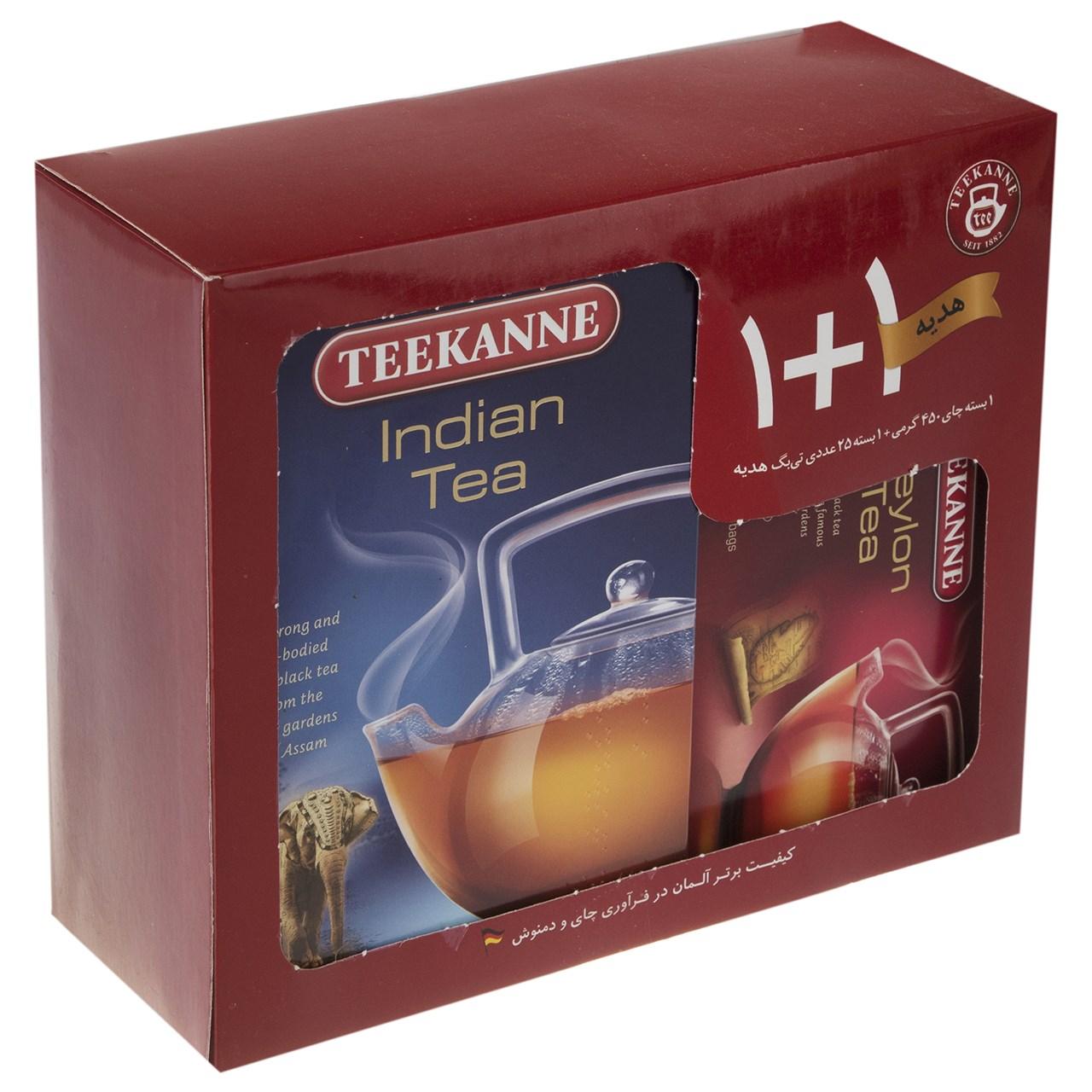 چای سیاه تی کانه مدل Indian Ceylon بسته 2 عددی