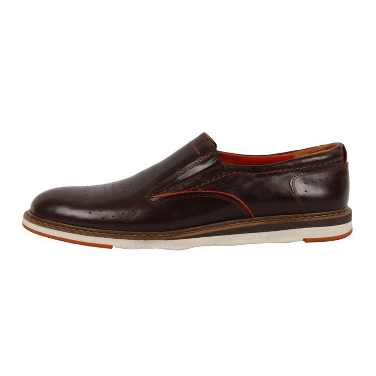 کفش چرم مهاجر مردانه مدل M8z
