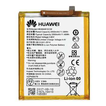 باتری موبایل مدل HB366481ECW با ظرفیت 3000mAh مناسب برای گوشی موبایل هوآوی P9/P9 Lite