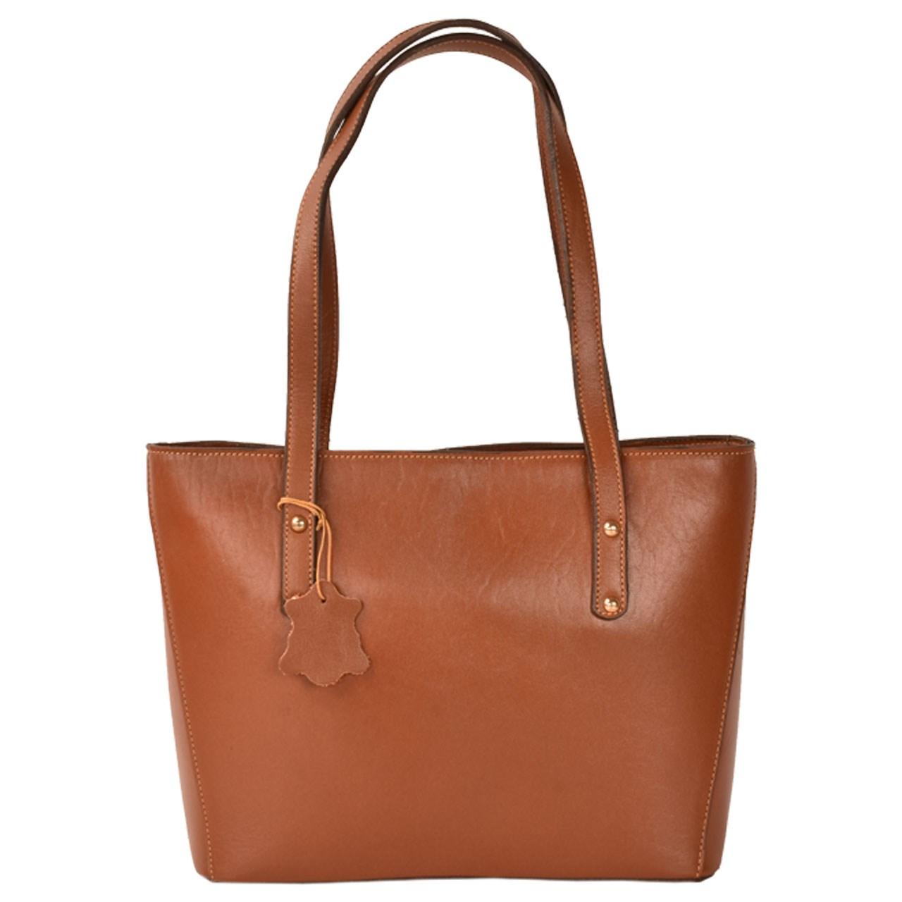 کیف دستی چرم طبیعی کهن چرم مدل V166-1