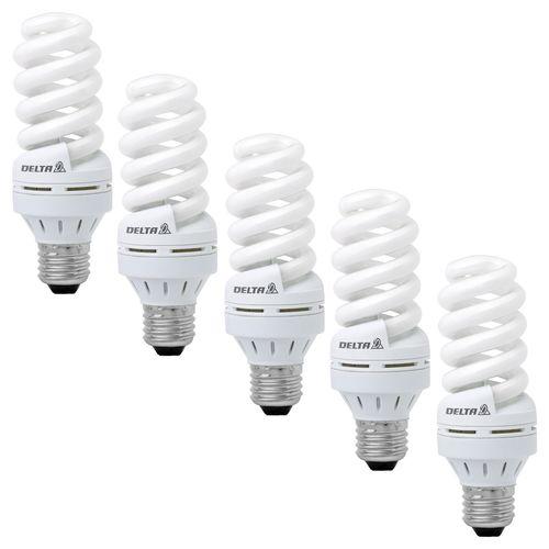لامپ کم مصرف 18 وات دلتا مدل پیچ پایه E27  بسته 5 عددی