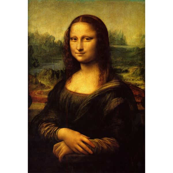 تابلو شاسی گالری هنری پیکاسو طرح مونالیزا سایز 100x70 سانتی متر