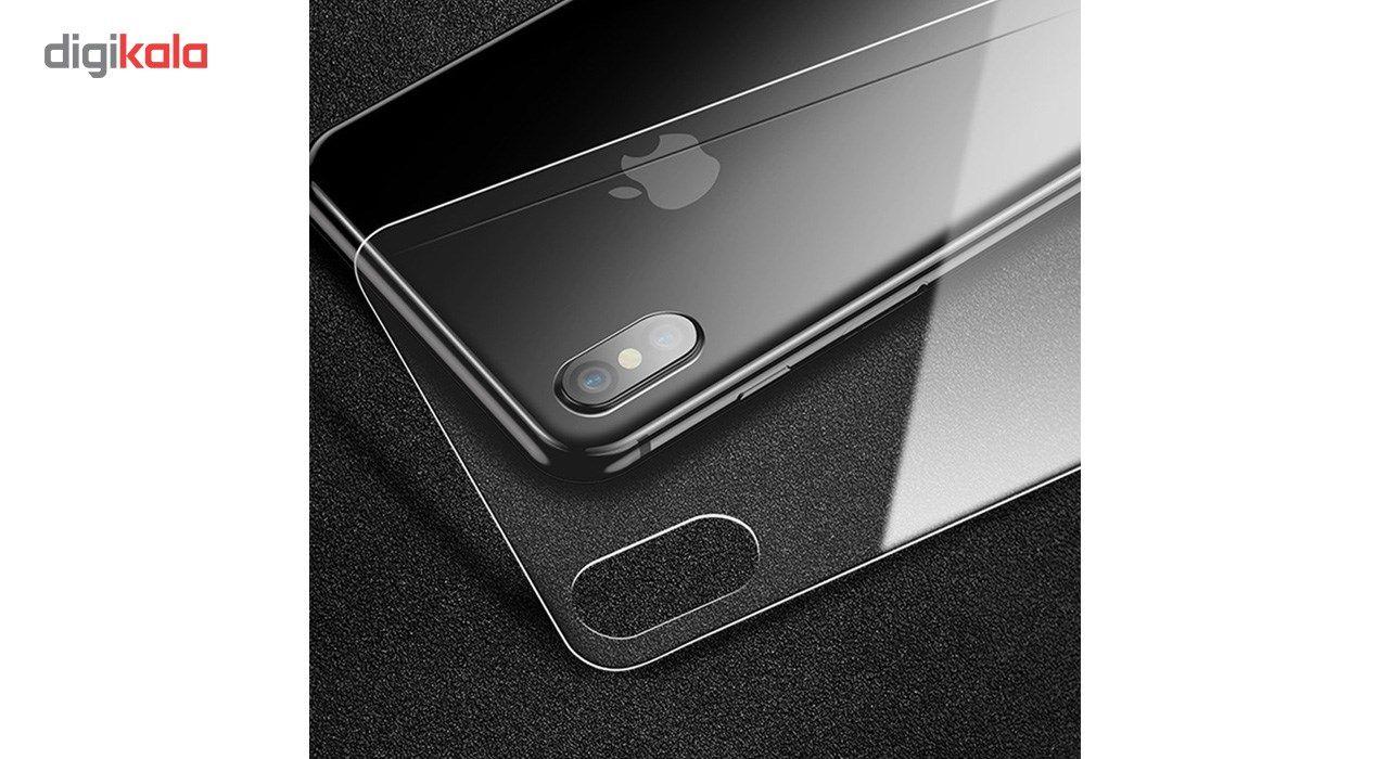 محافظ صفحه نمایش و پشت و لنز تمام چسب شیشه ای تمپرد پیکسی مدل 5D  مناسب برای گوشی اپل آیفون X main 1 8