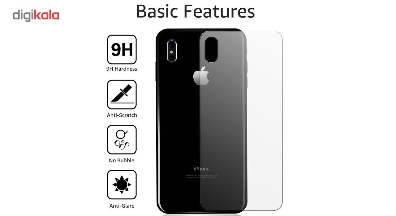 محافظ صفحه نمایش و پشت و لنز تمام چسب شیشه ای تمپرد پیکسی مدل 5D  مناسب برای گوشی اپل آیفون X main 1 9