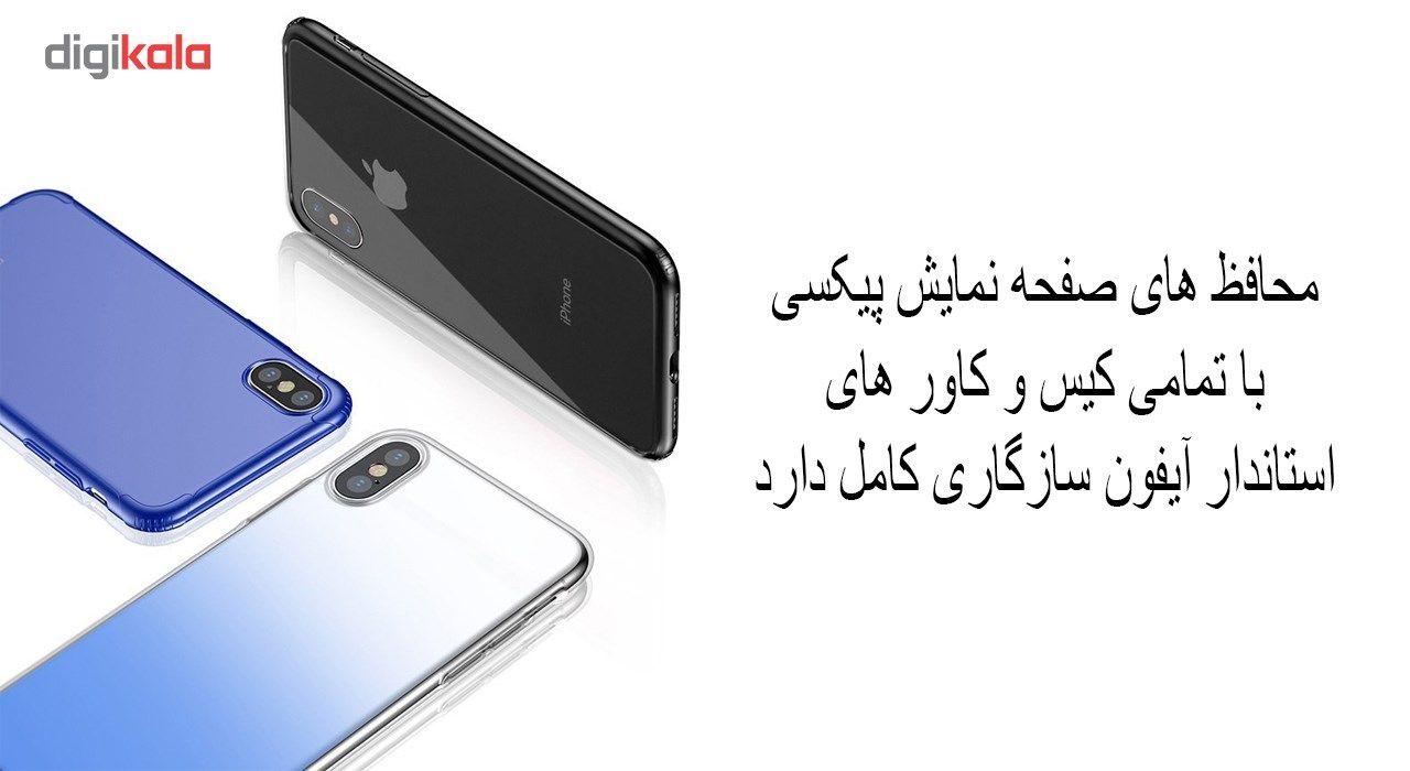 محافظ صفحه نمایش و پشت و لنز تمام چسب شیشه ای تمپرد پیکسی مدل 5D  مناسب برای گوشی اپل آیفون X main 1 10