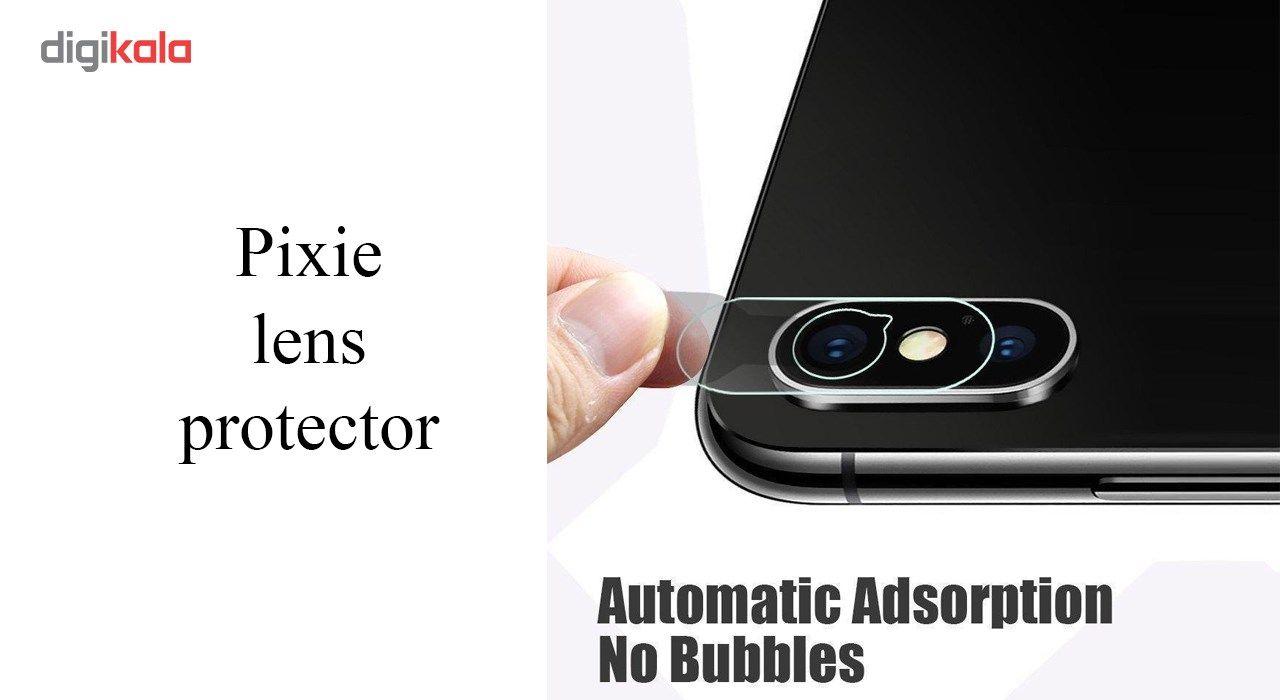 محافظ صفحه نمایش و پشت و لنز تمام چسب شیشه ای تمپرد پیکسی مدل 5D  مناسب برای گوشی اپل آیفون X main 1 11