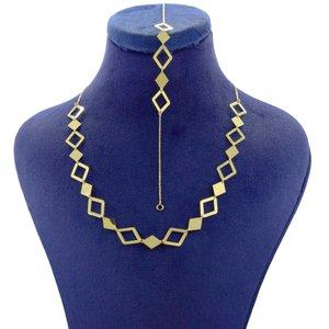 نیم ست طلا 18 عیار زنانه کانیار گالری مدل 159