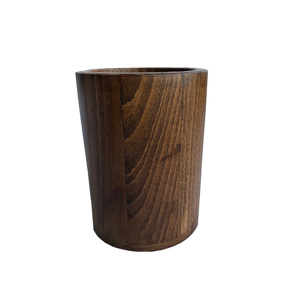 جا قاشقی چوبی مدل استوانه ای کد B-175