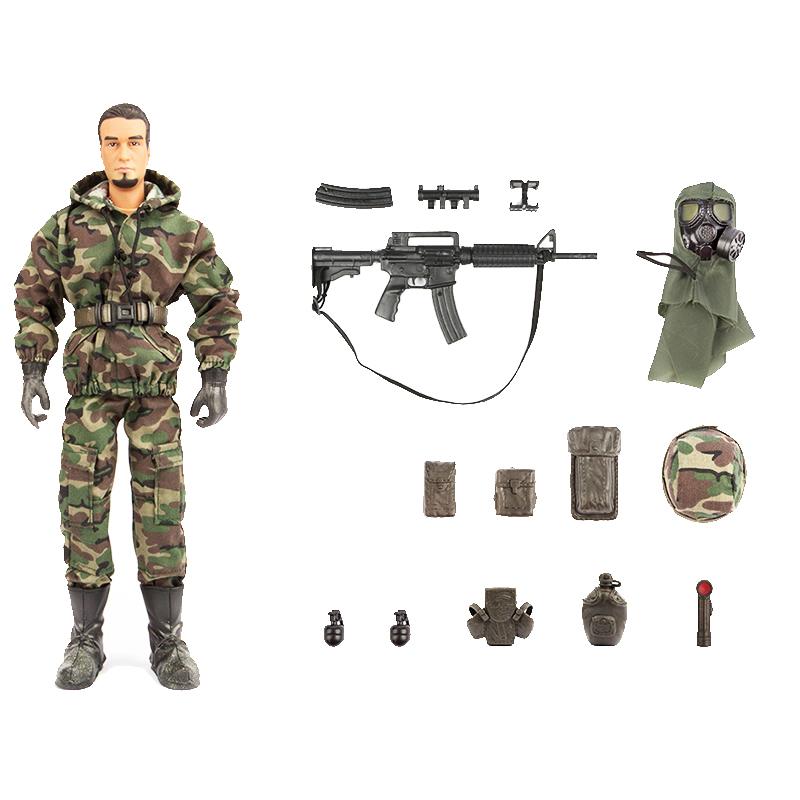 اسباب بازی جنگی مدل Marine کد 90400 مجموعه 14 عددی