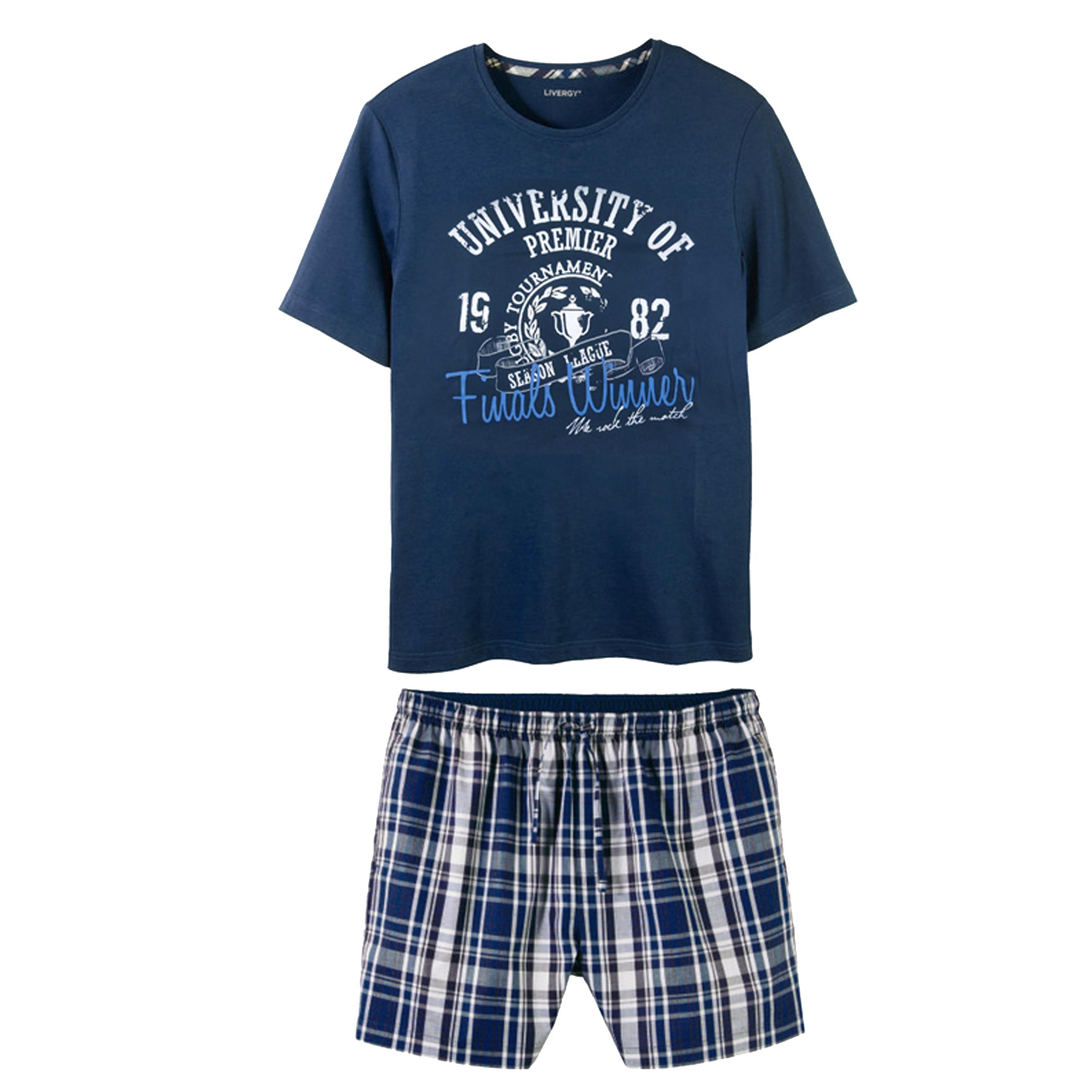 ست تی شرت و شلوارک مردانه لیورجی مدل BL275767