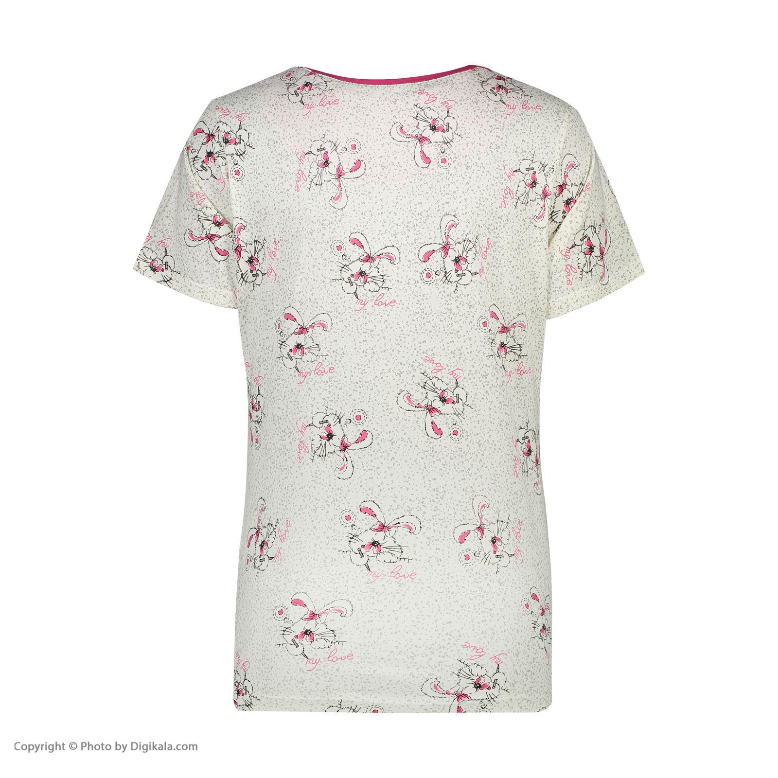 ست تی شرت و شلوارک راحتی زنانه مادر مدل 2041105-66 -  - 6