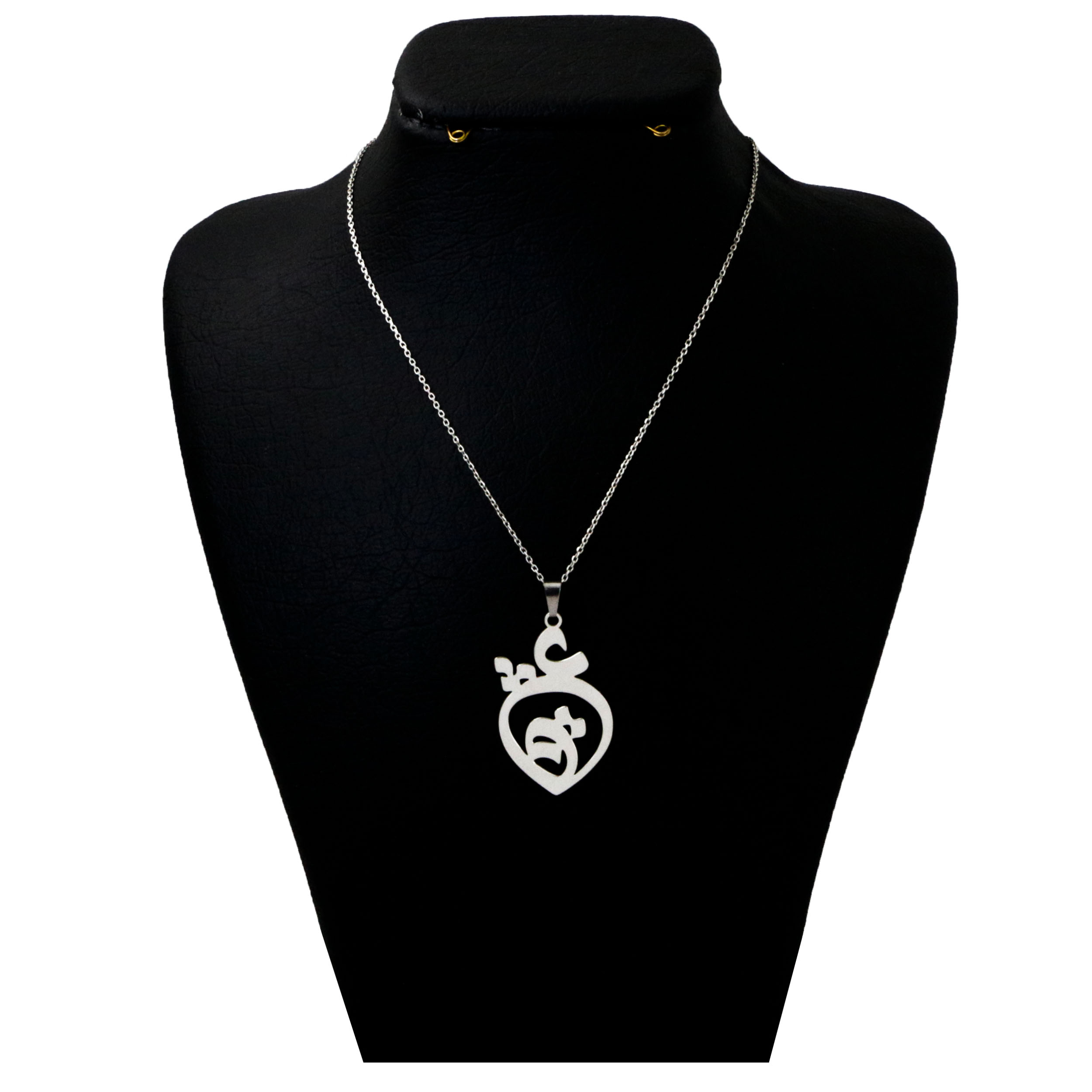 گردنبند نقره زنانه دلی جم طرح عشق 1 کد D 317