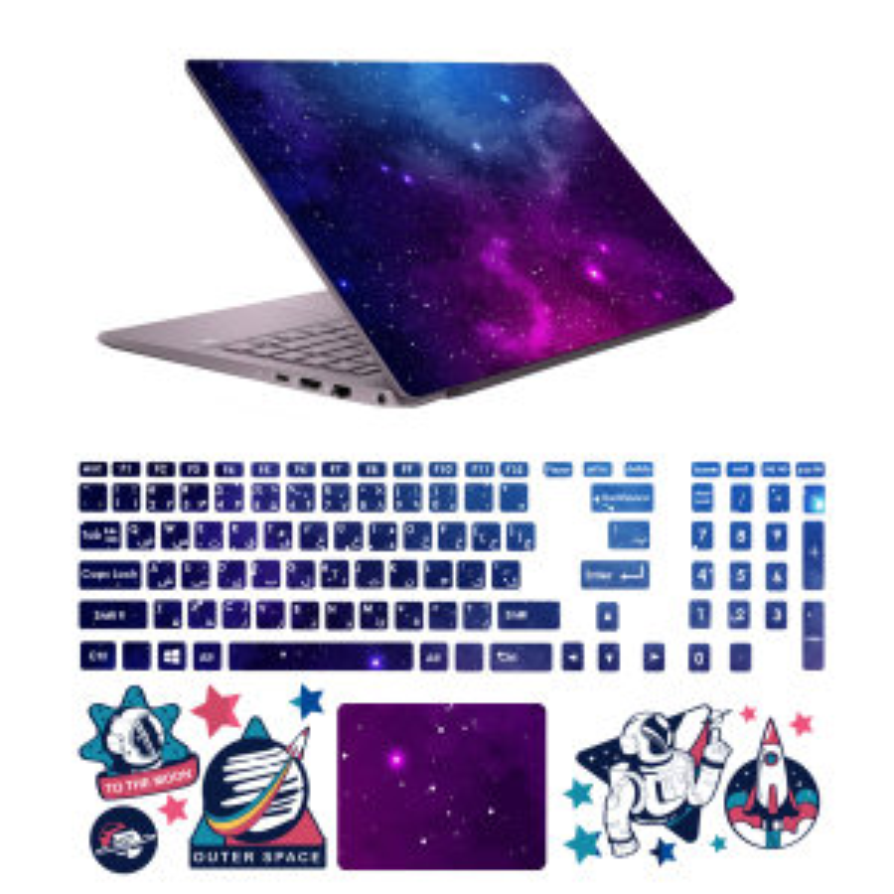 استیکر لپ تاپ صالسو آرت مدل 5081 hk به همراه برچسب حروف فارسی کیبورد
