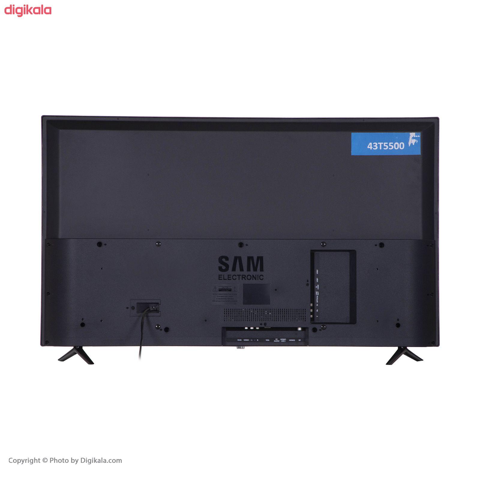 تلویزیون ال ای دی هوشمند سام الکترونیک مدل UA43T5500TH سایز ۴۳ اینچ main 1 3