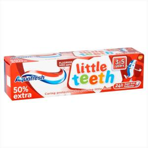 خمیر دندان کودک آکوا فرش مدل little teeth حجم 50 میلی لیتر