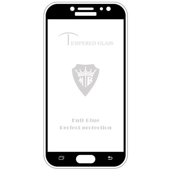 محافظ صفحه نمایش فول چسب  استرانگ مدل Full Cover Tempered Glass  مناسب برای گوشی موبایل سامسونگ J7 Pro