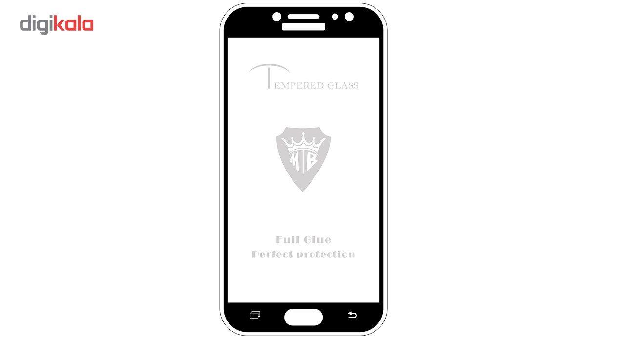 محافظ صفحه نمایش فول چسب  استرانگ مدل Full Cover Tempered Glass  مناسب برای گوشی موبایل سامسونگ J7 Pro main 1 1