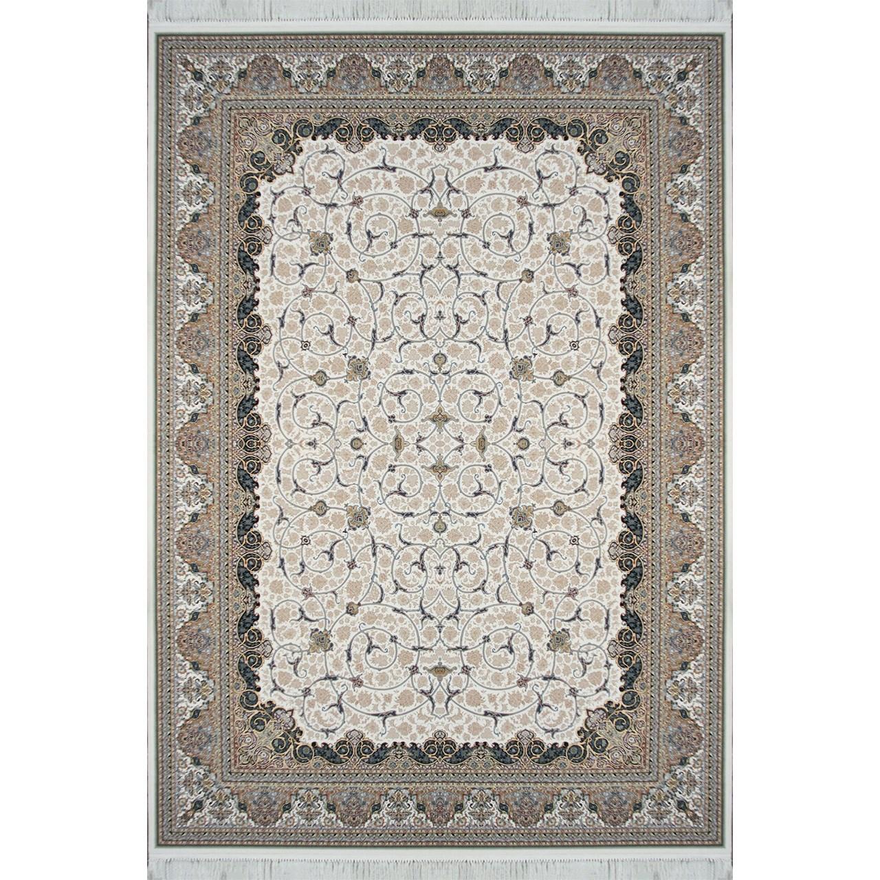 فرش ماشینی مشهد اردهال طرح 12103 زمینه کرم