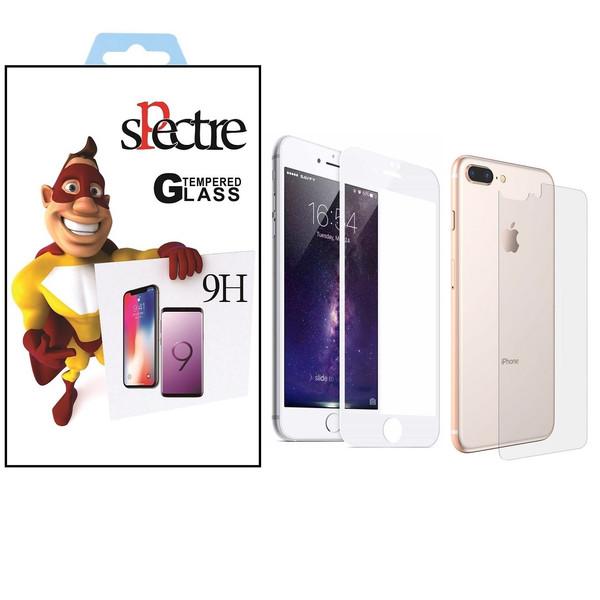 محافظ صفحه نمایش و پشت تمام چسب شیشه ای اسپکتر مدل9H مناسب برای گوشی اپل آیفون8/7پلاس