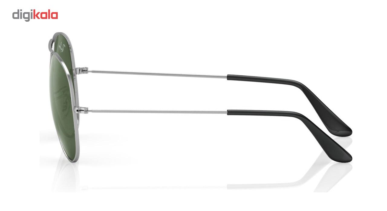 عینک آفتابی خلبانی مدل Aviator Large Metal Grey سایز 57 میلی متر