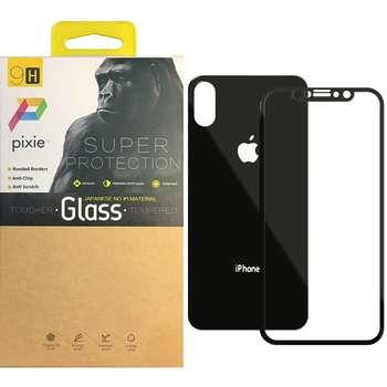 محافظ صفحه نمایش و پشت گوشی تمام چسب شیشه ای پیکسی مدل Mirror Electroplate مناسب برای گوشی اپل آیفون X