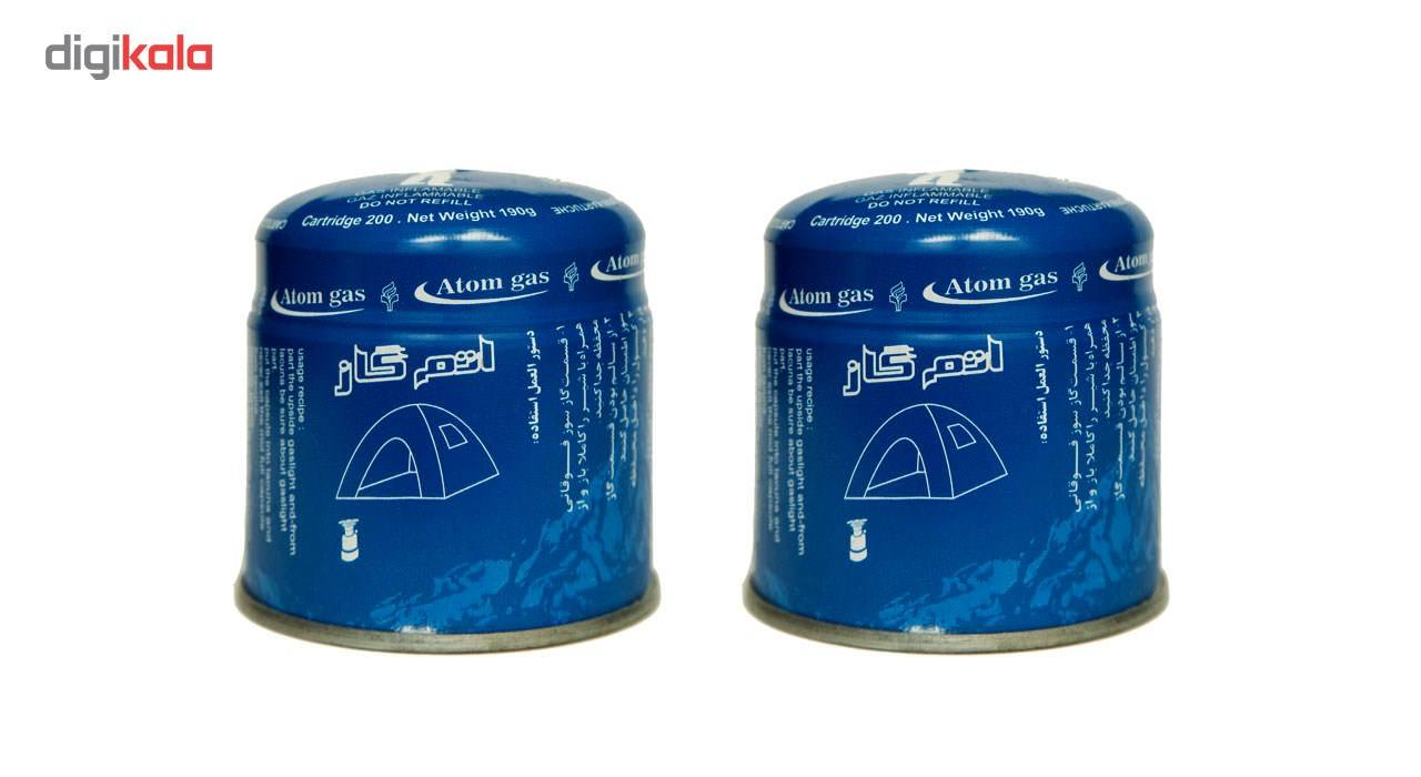 کپسول گاز اتم گاز مدل طارم  190 گرمی بسته 2 عددی main 1 1