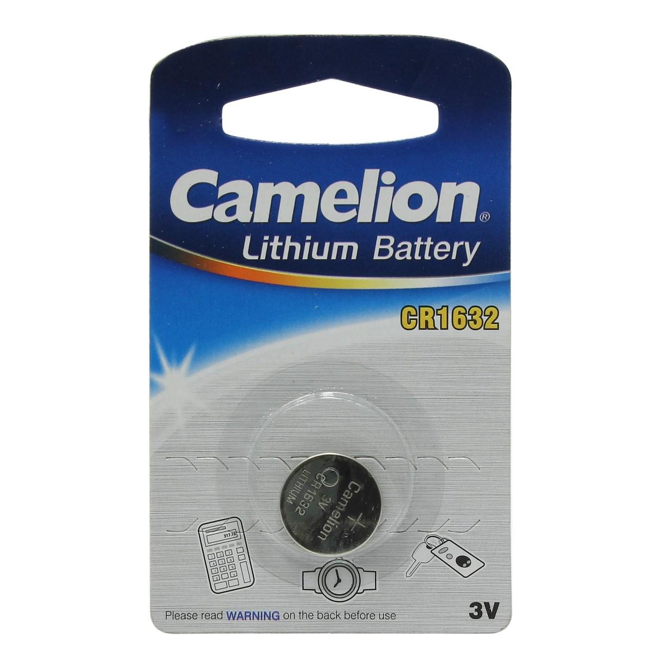 بررسی و {خرید با تخفیف} باتری سکه ای کملیون مدل CR1632 اصل