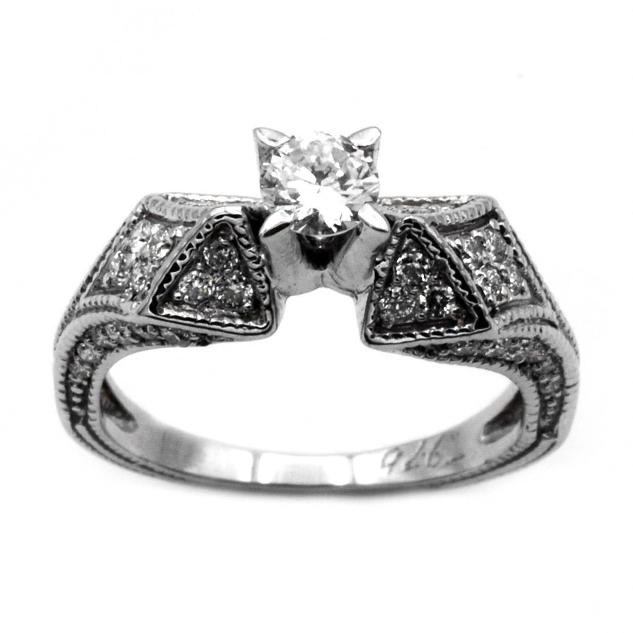 انگشتر طلا 18 عیار جواهری سون مدل 1778
