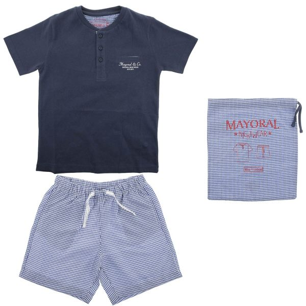 ست تی شرت و شلوارک پسرانه مایورال مدل MA 3720015