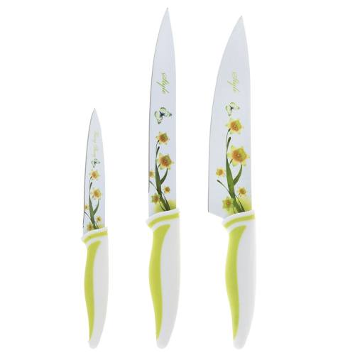 ست چاقو آشپزخانه 3 پارچه ژیانگلانگ  مدل Flower