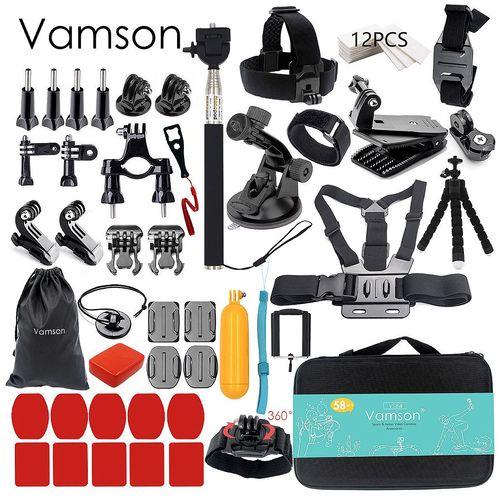 کیف لوازم جانبی ومسان مدل 58 تکه مناسب برای دوربین های ورزشی گوپرو شیامی و سونی