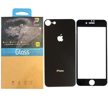 محافظ صفحه نمایش و پشت گوشی شیشه ای پیکسی مدل Mirror Electroplate مناسب برای گوشی اپل آیفون 8