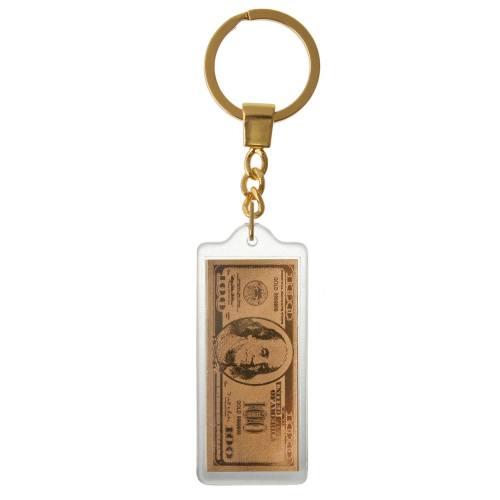 جاسوییچی طلا 24 عیار گالری الون طرح دلار کد 198004