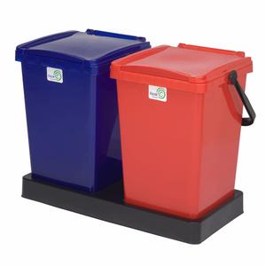 سطل زباله دوقلو رازک شیمی مدل 1025 ظرفیت 25 لیتر