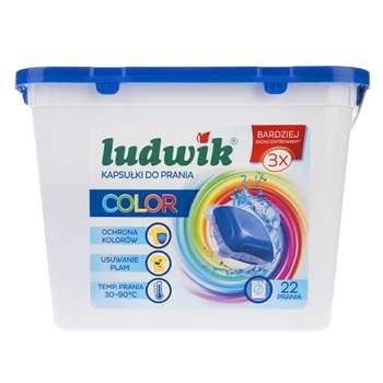 کپسول ژلهای ماشین لباسشویی لودویک مدل Color بسته 22 عددی