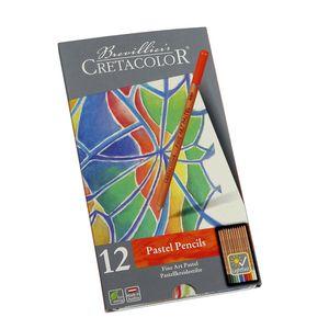 مداد پاستل 12 رنگ کرتاکالر مدل 47012