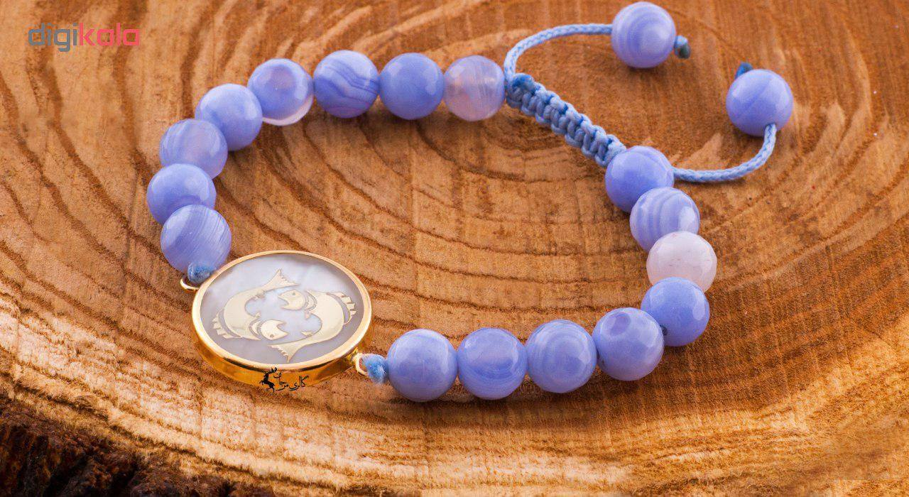 دستبند طلا  عیار مرجان مدل 0427