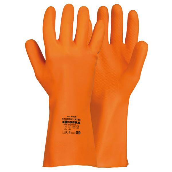 دستکش ایمنی کفرا ضد اسید مدل STURDY-LATEX
