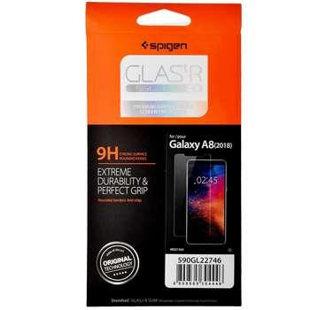 محافظ صفحه نمایش شیشه ای اسپیگن مدل GLAS.tR SLIM HD مناسب برای گوشی موبایل سامسونگ Galaxy A8 2018