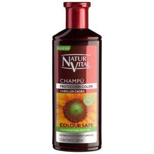 شامپو حنای رنگی نچرال ویتال مخصوص موهای شرابی حجم 300 میلی لیتر