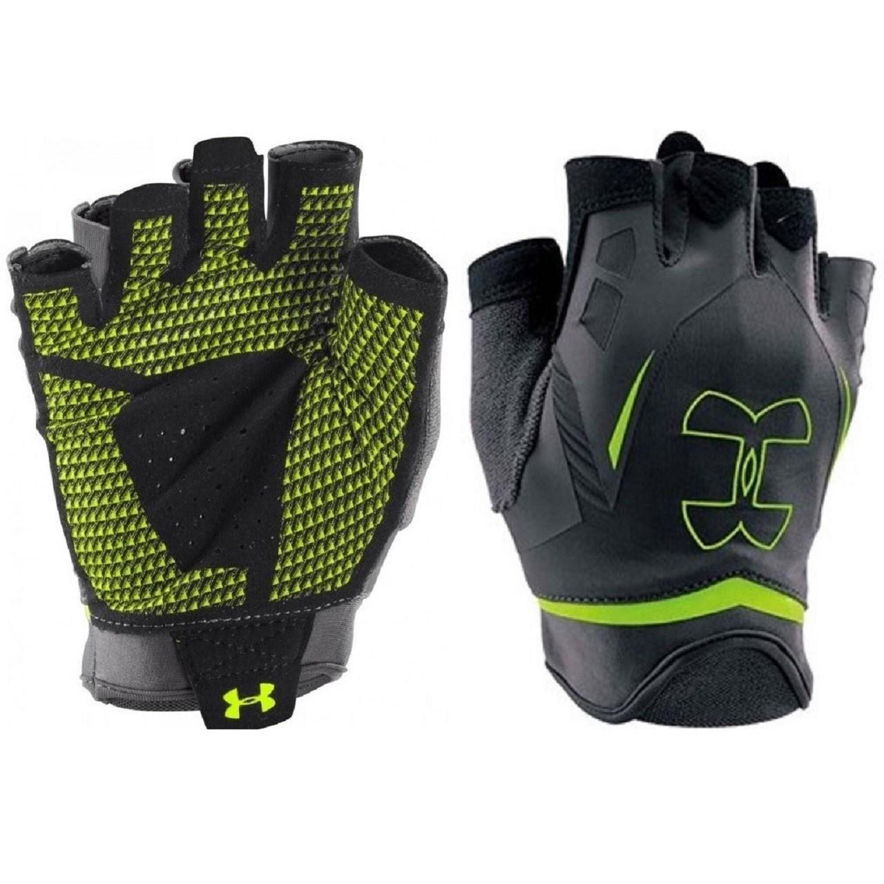دستکش ورزشی زنانه آندر آرمور مدل 2 UA Flux Half Finger Training