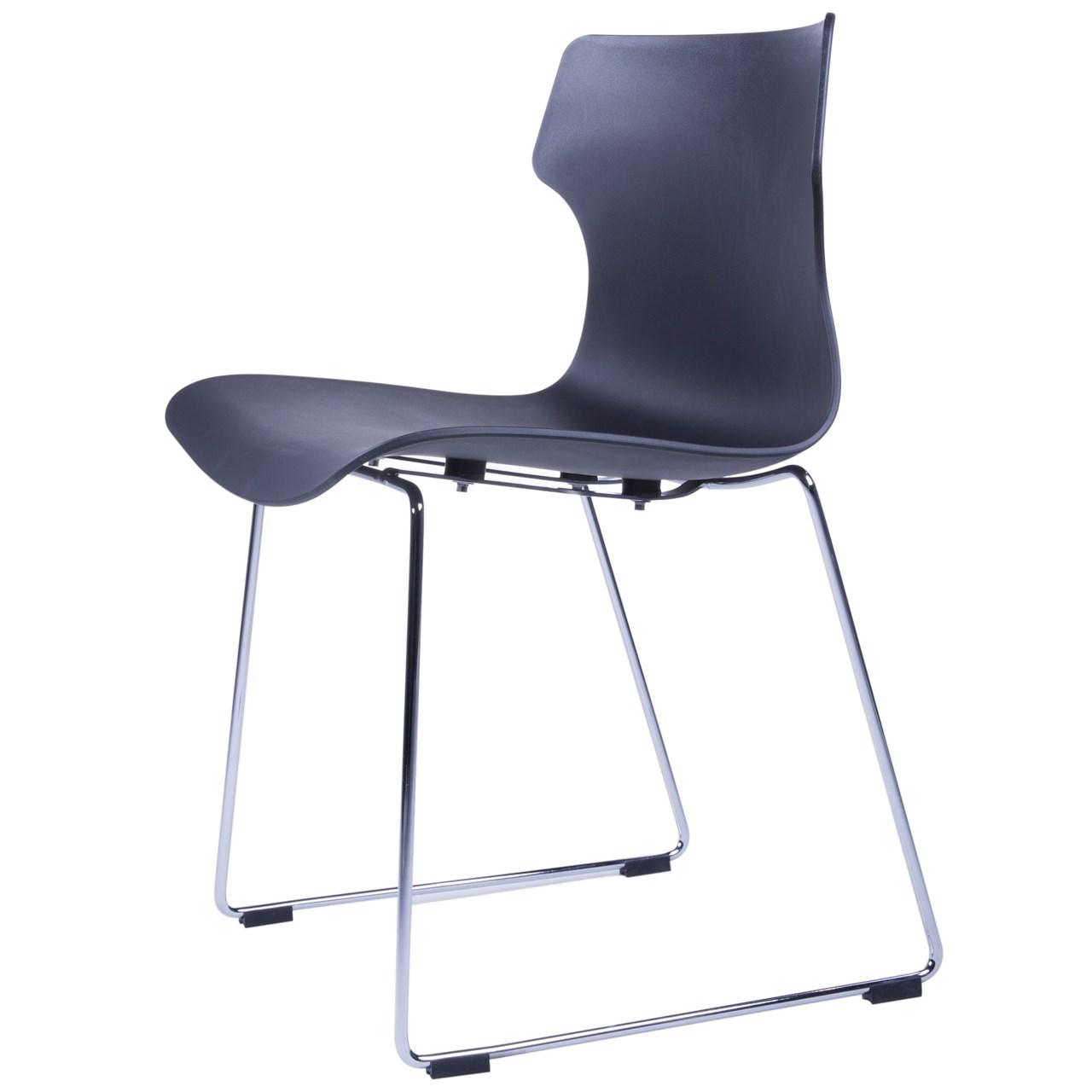 صندلی کروماتیک مدل Black Side Chair Steel Legs