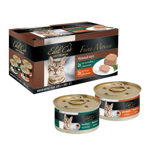 کنسرو ایدل کت گربه 4 عددی پته حاوی گوشت خرگوش و قرقاول 340 گرمی