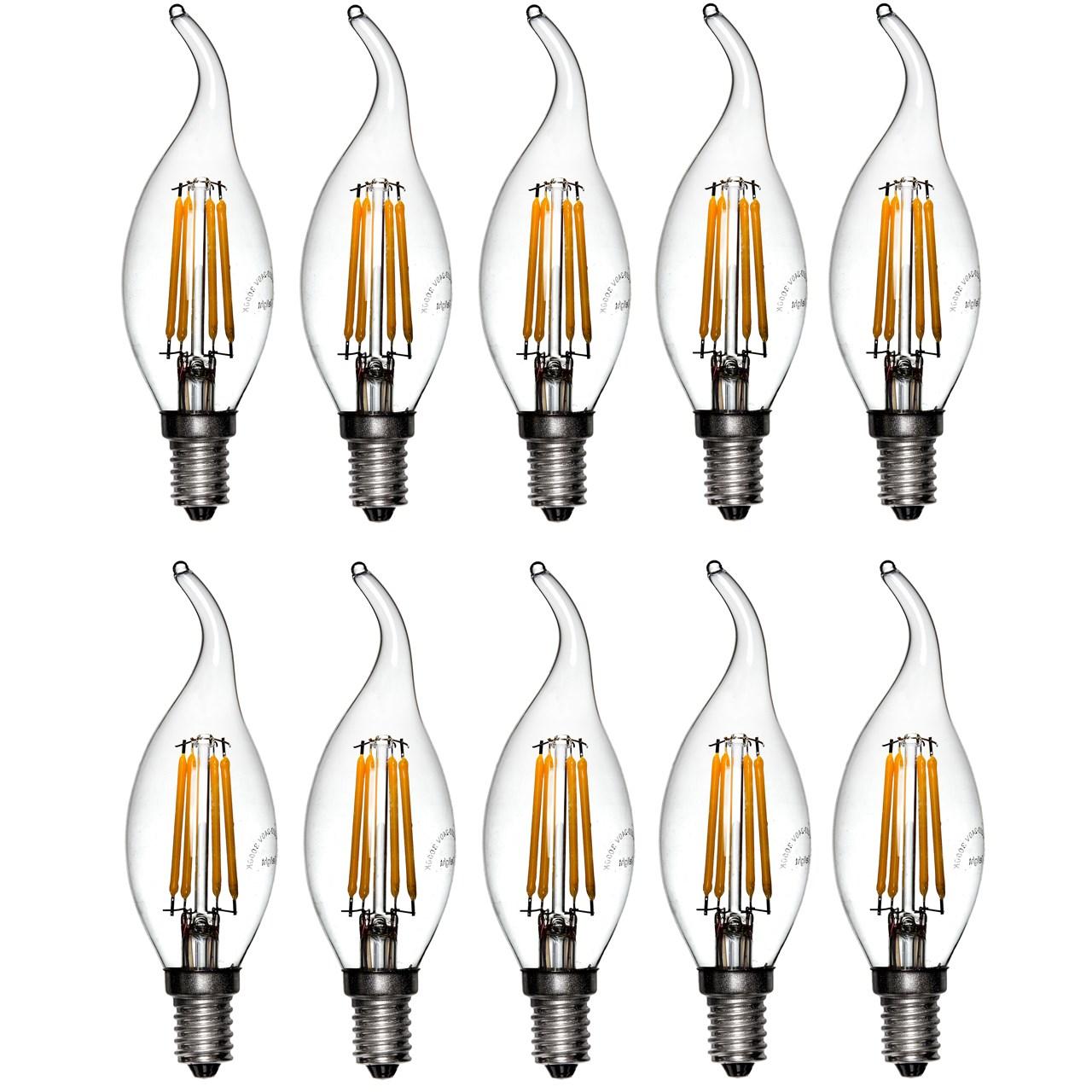 لامپ ال ای دی فیلامنتی 4 وات دیلایت کد 188x10 پایه E14 بسته 10 عددی  thumb