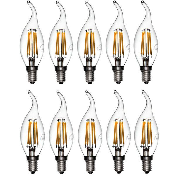 لامپ ال ای دی فیلامنتی 4 وات دیلایت کد 188x10 پایه E14 بسته 10 عددی