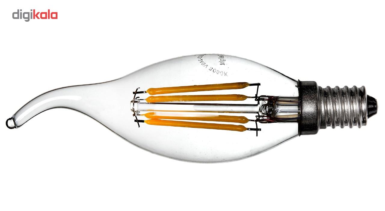 لامپ ال ای دی فیلامنتی 4 وات دیلایت کد 188x10 پایه E14 بسته 10 عددی  main 1 3