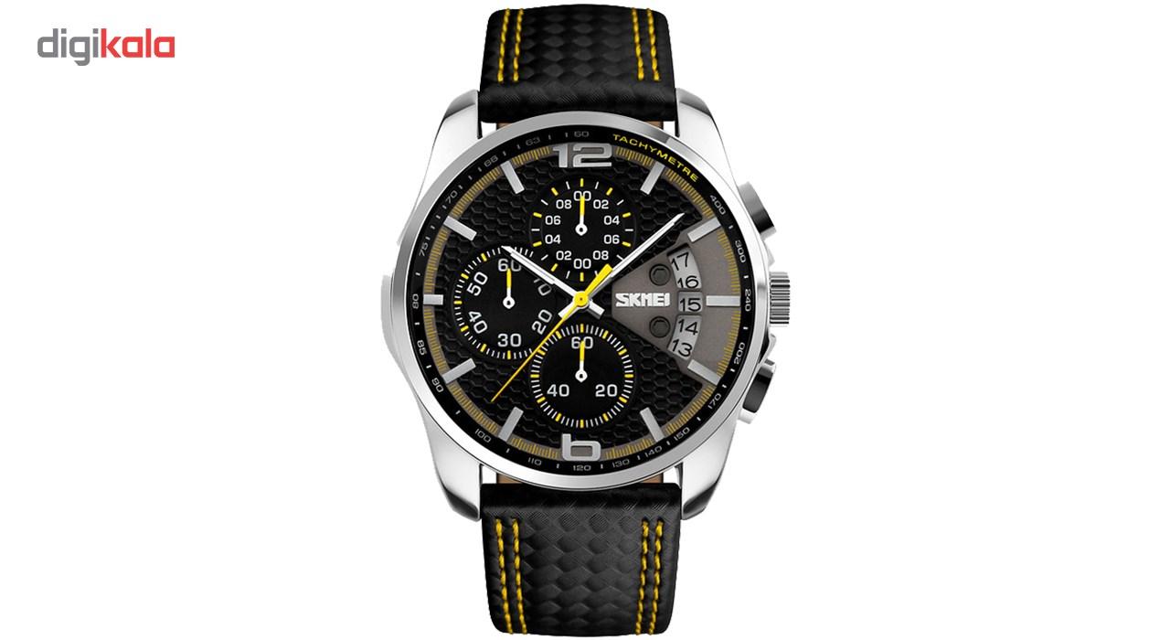 ساعت مچی عقربه ای مردانه اسکمی مدل S9106/Yellow