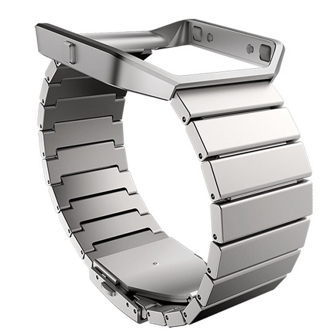 بند مچ بند هوشمند فیت بیت مدل Blaze Metal With Frame