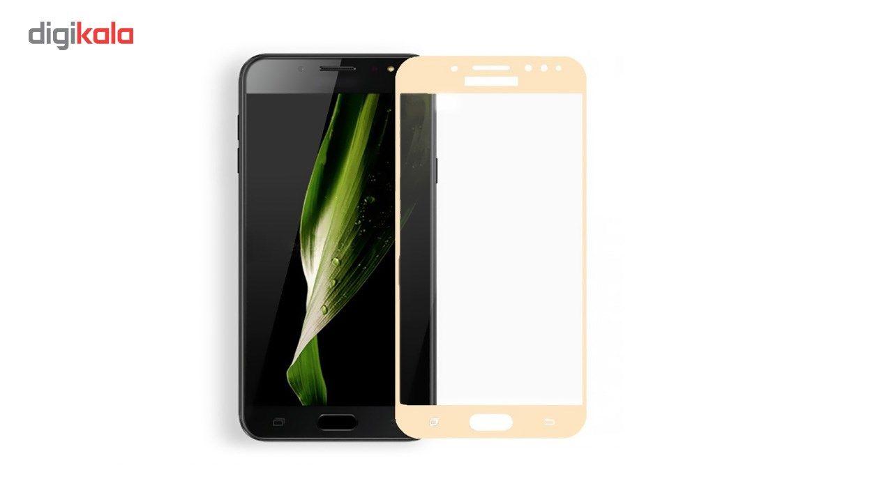 محافظ صفحه نمایش شیشه ای کوالا مدل Full Cover مناسب برای گوشی موبایل سامسونگ Galaxy C8 main 1 2
