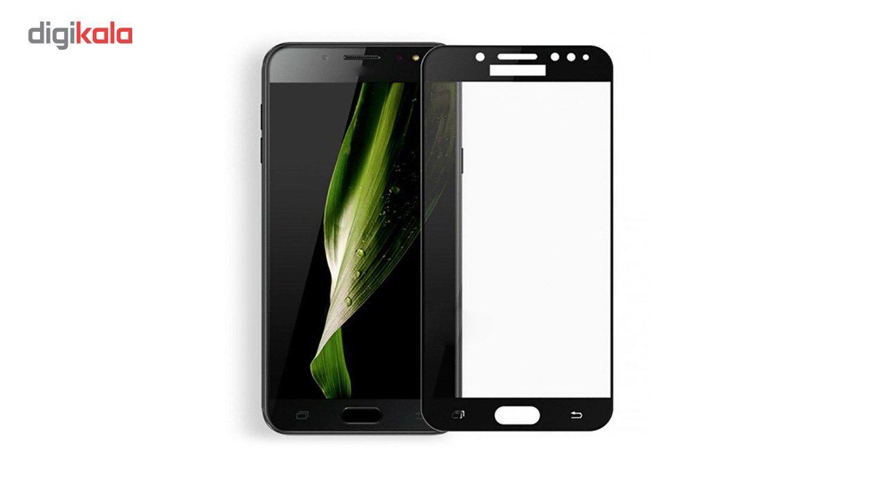 محافظ صفحه نمایش شیشه ای کوالا مدل Full Cover مناسب برای گوشی موبایل سامسونگ Galaxy C8 main 1 5